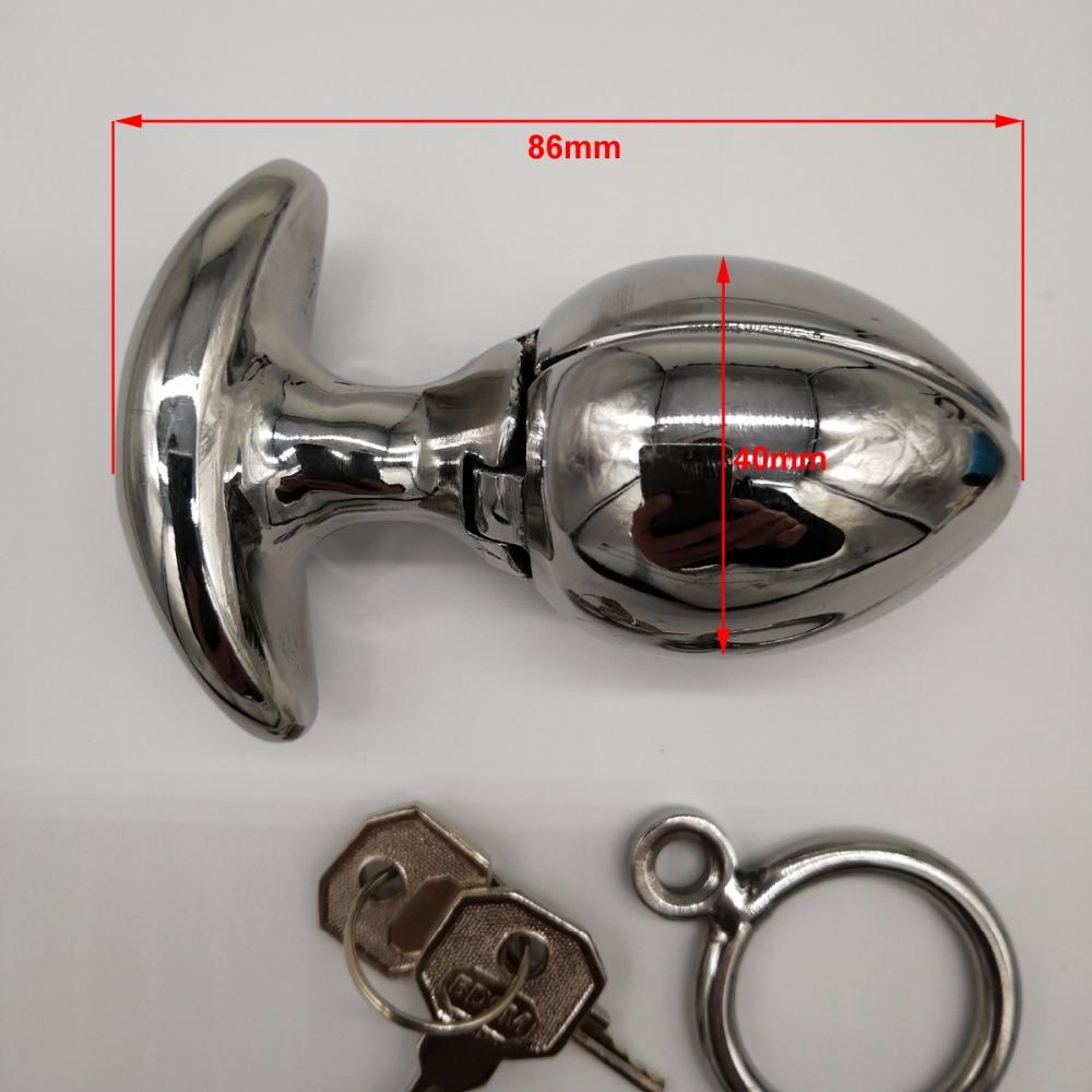 Locking anal plugs